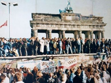 Berlin Wall Protest March
