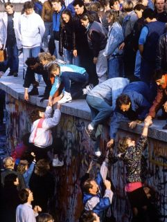 The Berlin Wall Falls